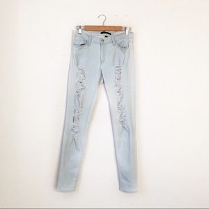Flying Monkey | Distressed White Wash Jean Size 30